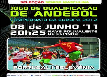 Cartaz Portugal : Eslovénia - qualificação Euro 2012