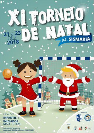 Cartaz XI Torneio de Natal do Atlético Clube da Sismaria