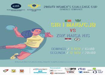 Cartaz SIR 1º Maio/ ADA CJ Barros : ZRK Naisa Nis - Challenge Cup