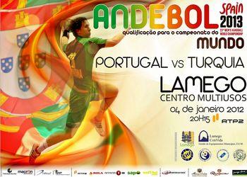 Cartaz Portugal : Turquia - Lamego, 04.01.2012