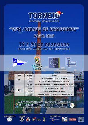 Cartaz Torneio CPN / Cidade de Ermesinde - Natal 2013