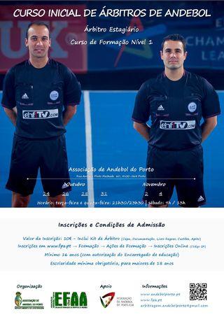 Cartaz Curso Inicial de Árbitros Estagiários - AA Porto