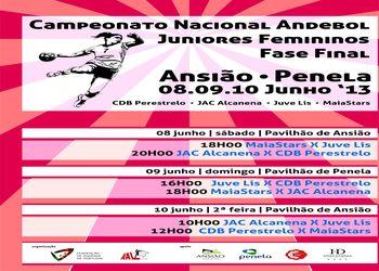 Cartaz Fase Final Campeonato Nacional Juniores Femininos 2012/ 13 em Ansião