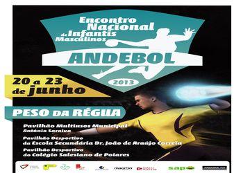 Cartaz Encontro Nacional Infantis Masculinos 2012-13 - 20 a 23 Junho, Peso da Régua