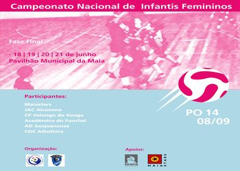 Cartaz Fase Final Campeonato Nacional Infantis Femininos