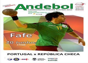 Cartaz Portugal - República Checa - Fafe, 20.06.2009