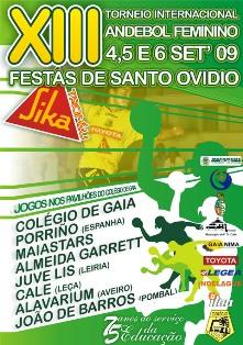 Cartaz XIII Torneio Internacional Andebol Feminino Festas de Stº Ovídio