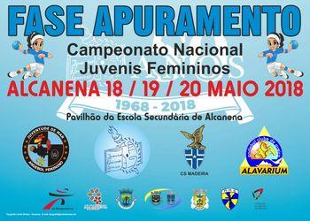 Cartaz da Fase de Apuramento do Campeonato Nacional de Juvenis Femininos - Alcanena