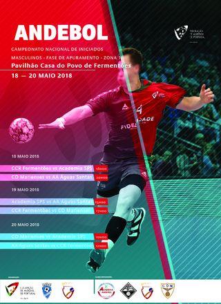 Cartaz da Fase de Apuramento do Campeonato Nacional Iniciados Masculinos - Fermentões