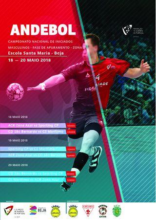 Cartaz da Fase de Apuramento do Campeonato Nacional Iniciados Masculinos - Beja