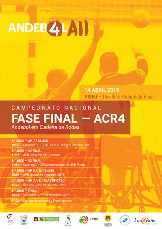 Cartaz Fase Final do Campeonato Nacional de ACR4 - 14 de Abril 2018 - Viseu