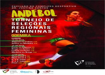 Cartaz da Fase Final do Torneio de Seleções Regionais de Iniciados Femininos - Odemira, 15 a 17.06.2018
