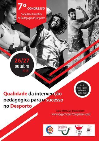Cartaz 7º Congresso da Sociedade Científica de Pedagogia do Desporto - ESDRM