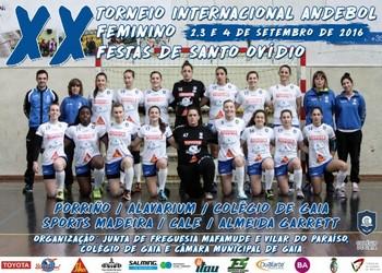 Cartaz XX Torneio Internacional Fstas de Santo Ovídio 2016