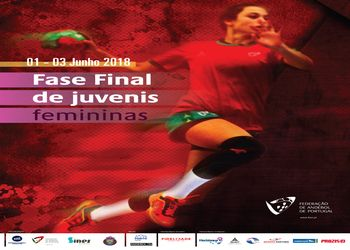 Cartaz da Fase Final do Campeonato Nacional de Juvenis Femininos - Sines