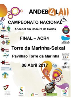Cartaz Fase Final do Campeonato Nacional de ACR4 - 08.04.17