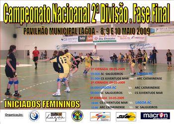 Cartaz Fase Final CN 2ª Divisão Iniciados Femininos