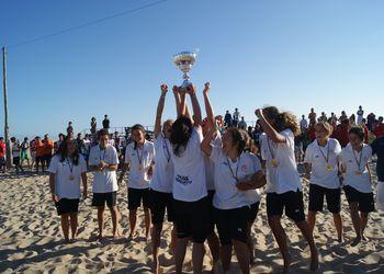 Elas/ AA Espinho - 1º Lugar Rookies Femininos - Fase Final do Circuito de Andebol de Praia 2011