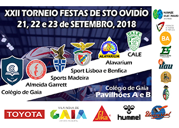 Cartaz - XXII Torneio Festas de Santo Ovídio 2018