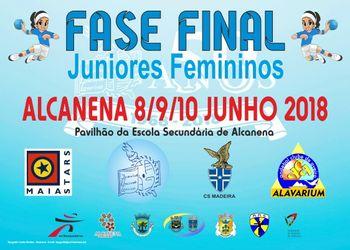 Cartaz Fase Final Campeonato Nacional Juniores Femininos 2017/ 2018
