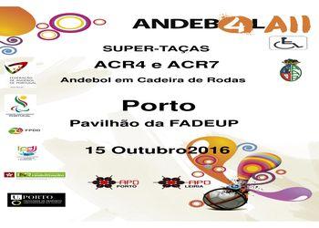 Cartaz Supertaças de ACR4 e ACR7 2016