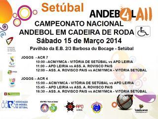 Cartaz Andebol 4All - 2ª Concentração Sul - Setúbal - 15.03.14