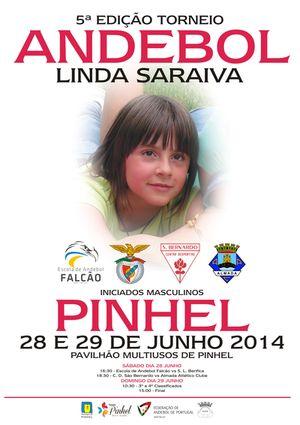 Cartaz 5º Torneio Linda Saraiva de Andebol 2014