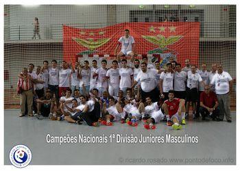 SL Benfica - Campeão Nacional Juniores Masculinos 1ª Divisão - foto: Ricardo Rosado