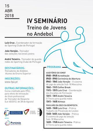 Cartaz Seminário de Andebol de Portimão - 2018