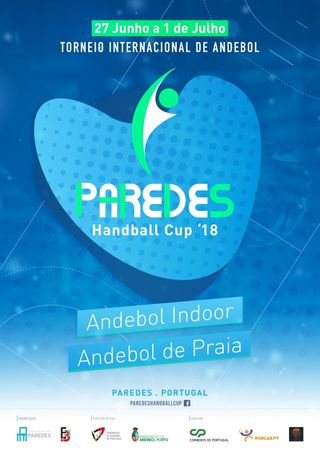 Cartaz Paredes Handball Cup'18