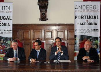 Conferência de Imprensa em Espinho - apresentação Portugal - Macedónia