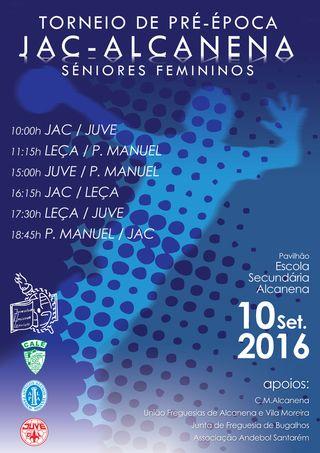 Cartaz Torneio Alcanena - Seniores Femininos