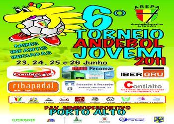Cartaz 6º Torneio de Andebol Jovem Arepa 2011 - 23, 24, 25 e 26 de Junho 2011
