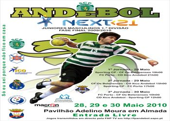 Cartaz Fase Final Next<21 - Campeonato Nacional 1ª Divisão Juniores Masculinos - 28 a 30 de Maio, Almada