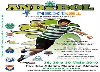 Cartaz Fase Final Next<21 - Campeonato Nacional 1ª Divisão Juniores Masculinos - 28 a 30 de Maio, Almada