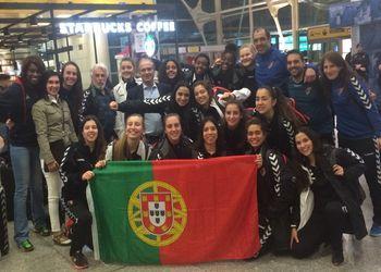 Presidente da FAP recebe Selecção Nacional Juniores A Femininas à chegada ao aeroporto de Lisboa