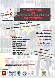 Cartaz 5º Seminário de Conhecimento Técnico de Andebol