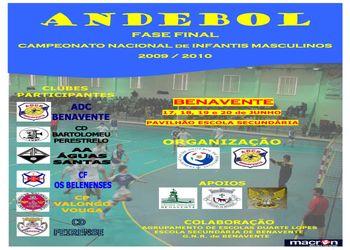 Cartaz Fase Final do Campeonato Nacional Infantis Masculinos - 17 a 20.06.10, Benavente