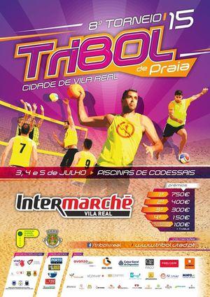 Cartaz 8º Torneio Tribol de Praia Cidade de Vila Real / Intermarché