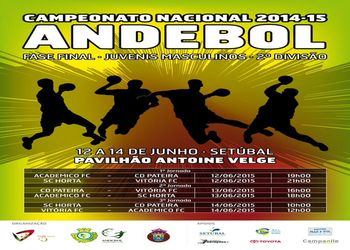 Cartaz Fase Final do Campeonato Nacional Juvenis Masculinos 2ª Divisão 2014-2015