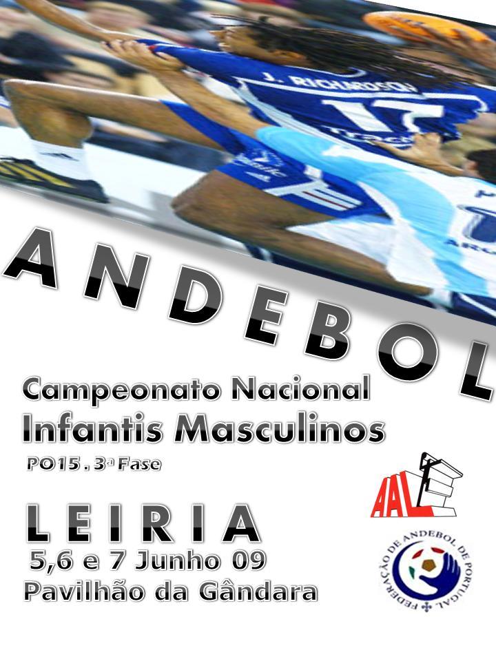 Cartaz 3ª Fase do Campeonato Nacional Infantis Masculinos