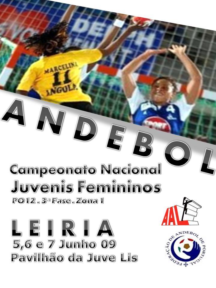 Cartaz 3ª Fase do Campeonato Nacional Juvenis Femininos