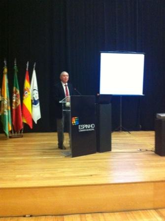 Presidente da FAP, Dr Ulisses Pereira, no I Congresso de Andebol de Espinho