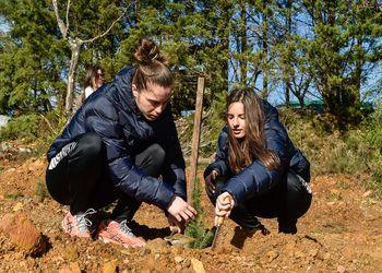 Seleção Nacional A Feminina na reflorestação da Serra do Caramulo - Março 2018