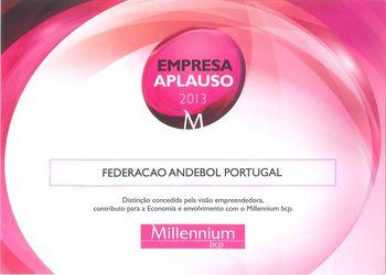 FAP distinguida pelo Millennium BCP - Empresa Aplauso 2013