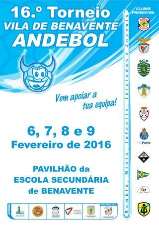 Cartaz 16º Torneio de Andebol Vila de Benavente