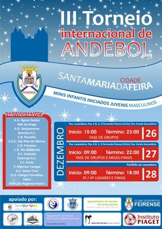 Cartaz III Torneio Internacional de Andebol Cidade de Santa Maria da Feira