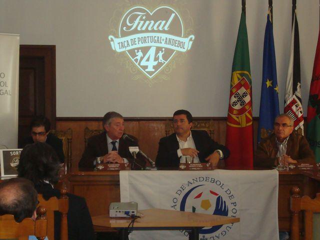 Sorteio da Final Four da Taça de Portugal Seniores Masculinos - Luis Pacheco, Dr. Ulisses Pereira, Dr. Jorge Botelho e João Estrela