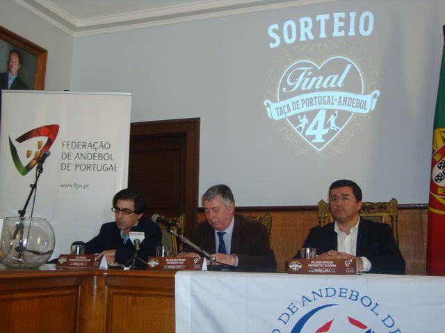 Sorteio da Final Four da Taça de Portugal Seniores Masculinos - Luis Pacheco, Dr. Ulisses Pereira, Dr. Jorge Botelho