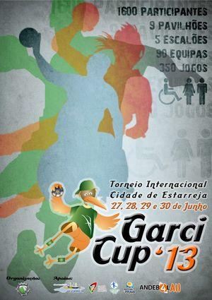 Cartaz GarciCup' 2013 – IV Torneio Internacional Cidade de Estarreja
